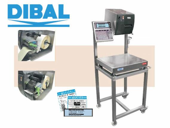 Equipo móvil de pesaje y etiquetado manual Dibal ML-3000